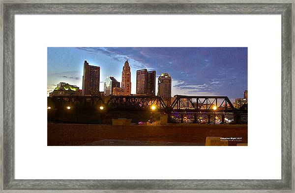 Framed Print featuring the digital art Columbus Night 1517 by Brian Gryphon