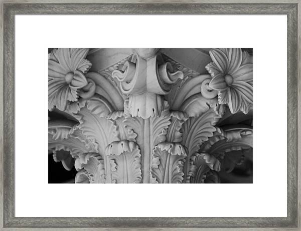 Column Capital Detail 1 Framed Print