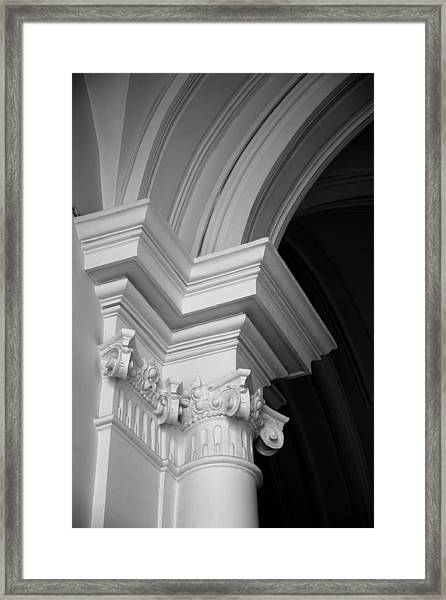 Columns At Hermitage Framed Print