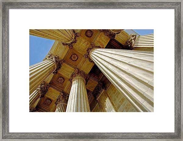 Columns. Supreme Court Framed Print
