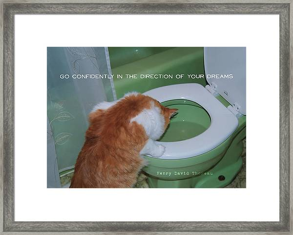 Come Back Quote Framed Print
