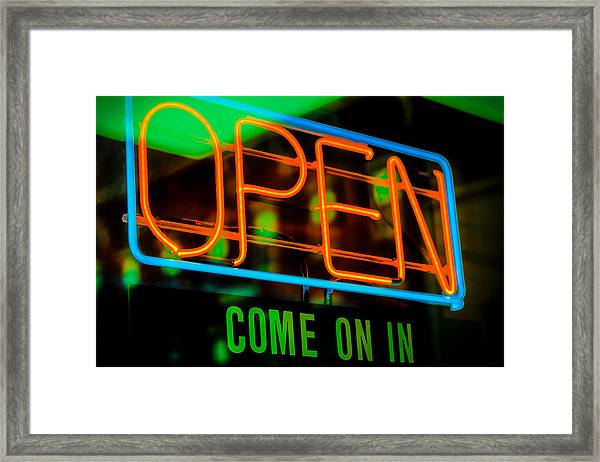 Come On In Framed Print