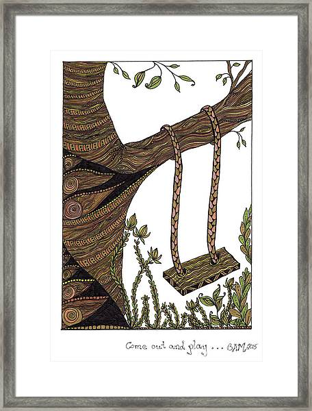 Come Out And Play Framed Print