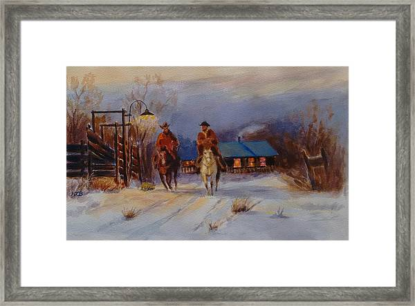 Come Quitting Time Framed Print