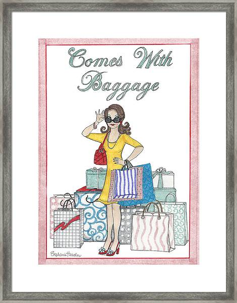 Comes With Baggage Framed Print