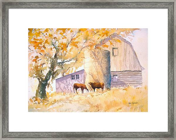 Comfortable-autumn Framed Print