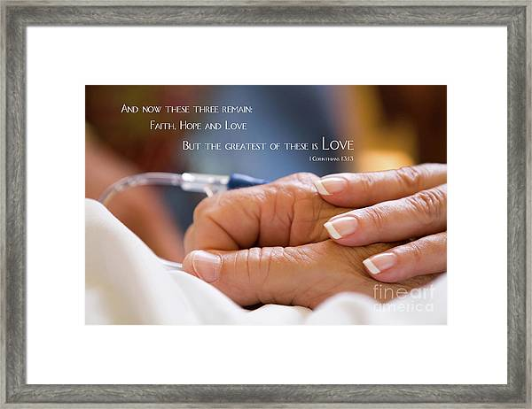 Comforting Hand Of Love Framed Print