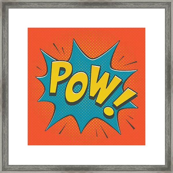 Comic Pow Framed Print
