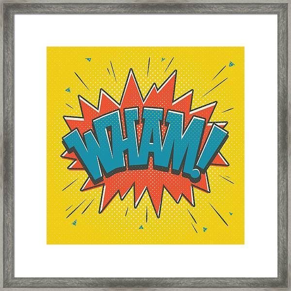 Comic Wham Framed Print