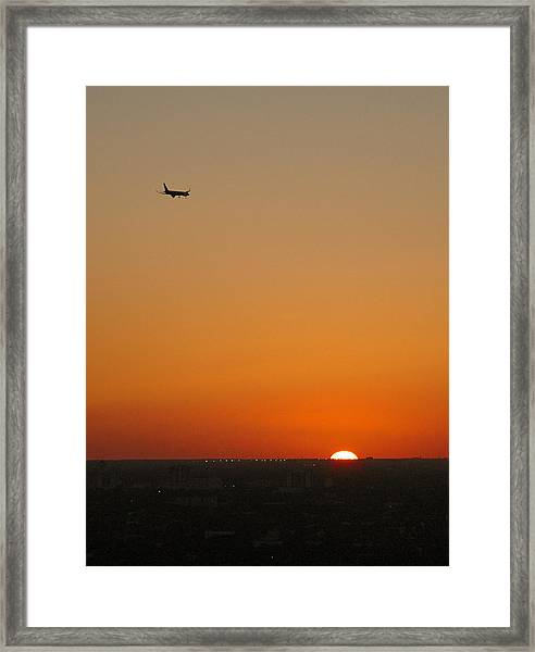 Comin' Home - Miami Framed Print