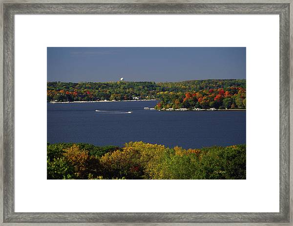 Coming And Going - Lake Geneva Wisconsin Framed Print
