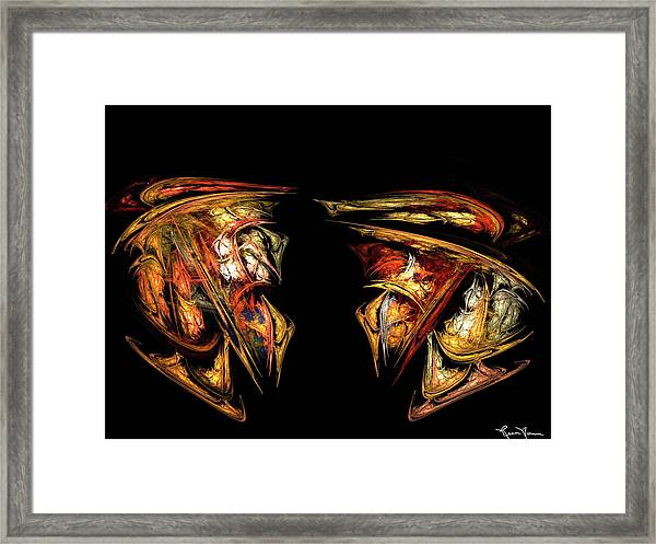 Coming Face To Face Framed Print