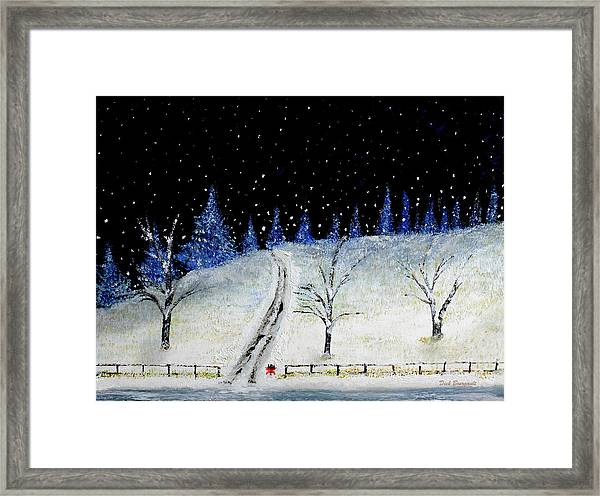 Coming Home For Christmas Framed Print