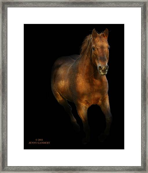 Coming Out Of The Dark Framed Print