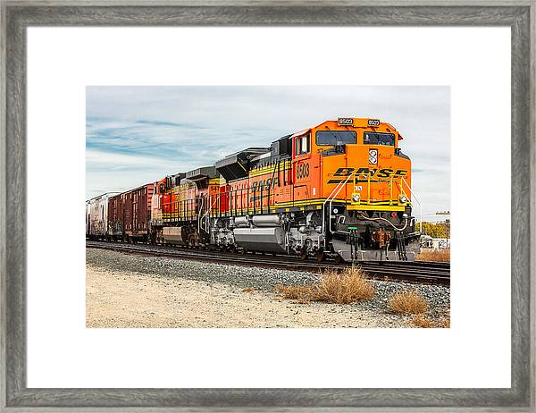 Coming Through Livingston Framed Print