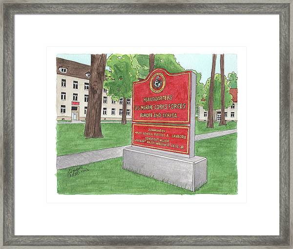 Commander Major General Russell A. Sanborn - Marforeuraf Framed Print