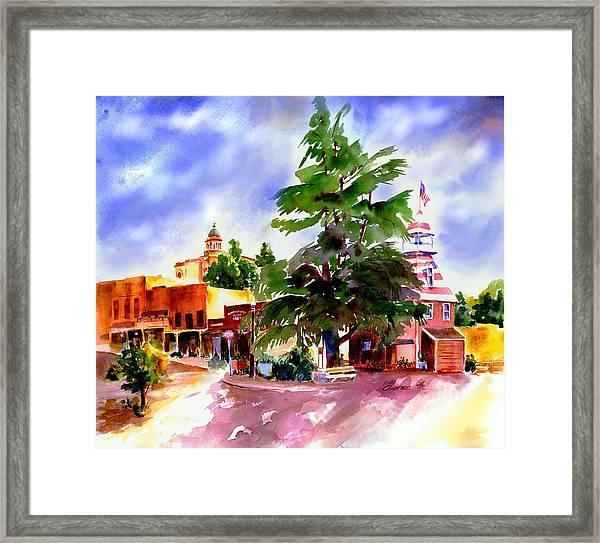 Commercial Street, Old Town Auburn Framed Print