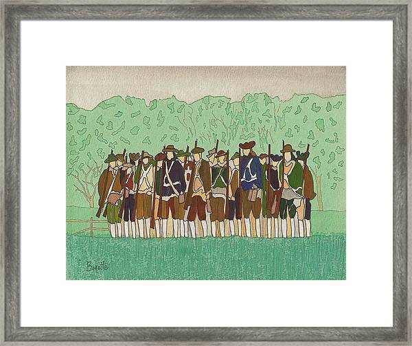 Committeemen On The Green Framed Print by Robert Boyette