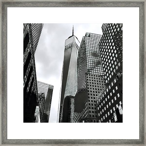 Commuters' View Of 1 World Trade Center Framed Print