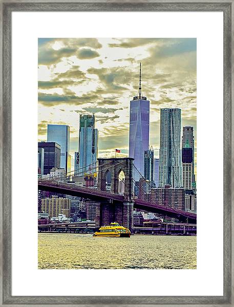 Commuting Framed Print