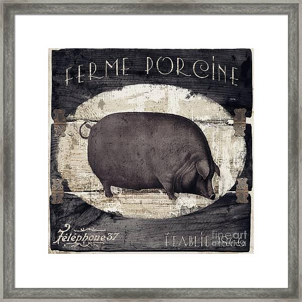 Compagne II Pig Farm Framed Print