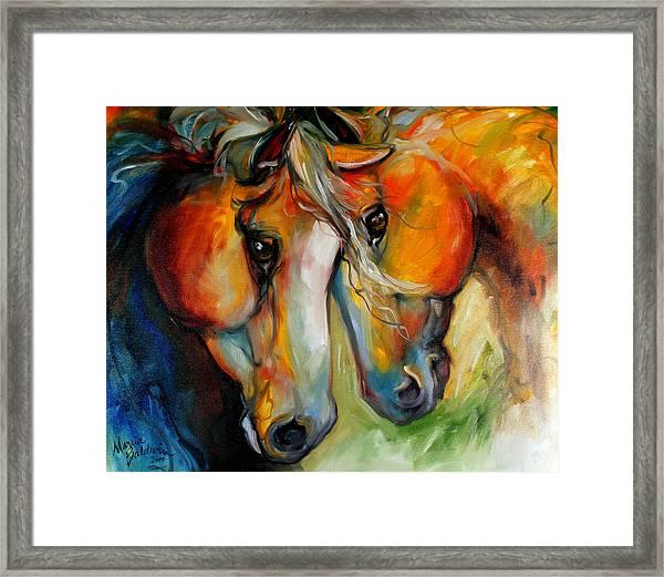 Companions Equine Art Framed Print