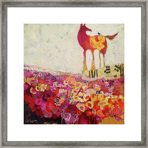 Framed Print featuring the painting Companions by Shelli Walters