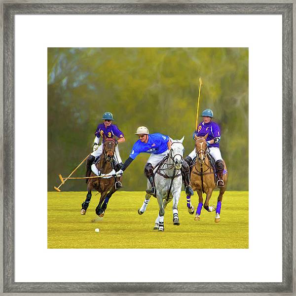 Competition For The Ball - Polo Framed Print