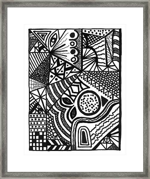 Complex Perception Framed Print