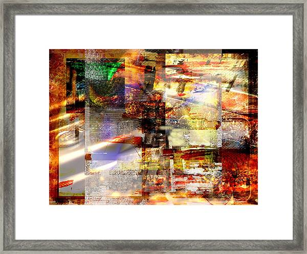 Complicity Of Green Framed Print