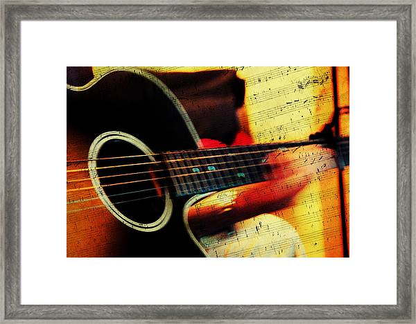 Composing Hallelujah. Music From The Heart  Framed Print