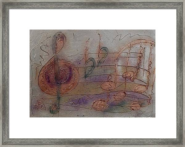 Composition In B Flat Framed Print