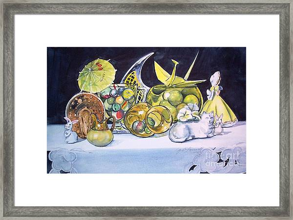 Composition In Yellow Framed Print