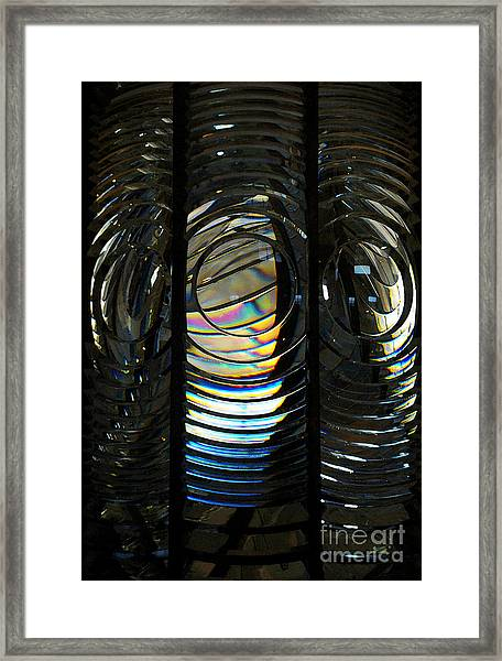 Concentric Glass Prisms - Water Color Framed Print