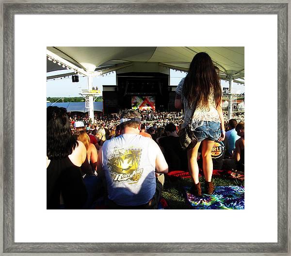 Concert Crowd Framed Print