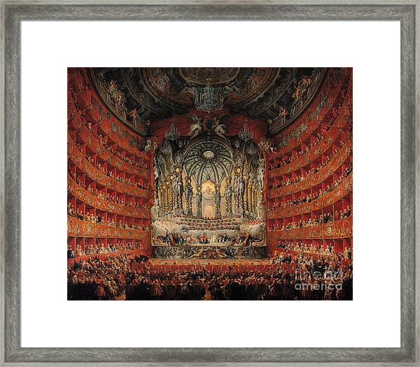 Concert Given By Cardinal De La Rochefoucauld At The Argentina Theatre In Rome Framed Print