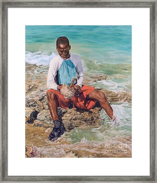 Conch Boy II Framed Print