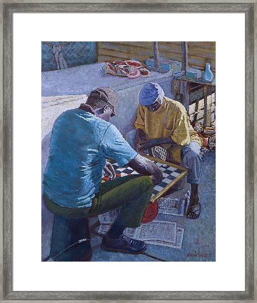Conch Stand Checker Mates Framed Print