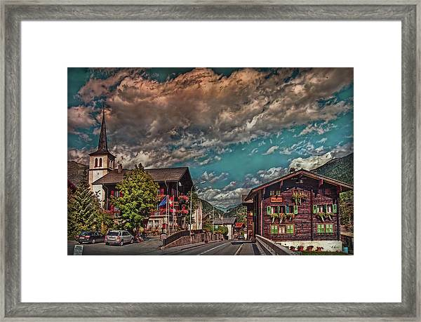 Conches Valley Framed Print