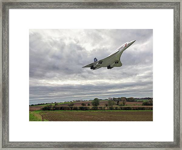 Concorde - High Speed Pass Framed Print