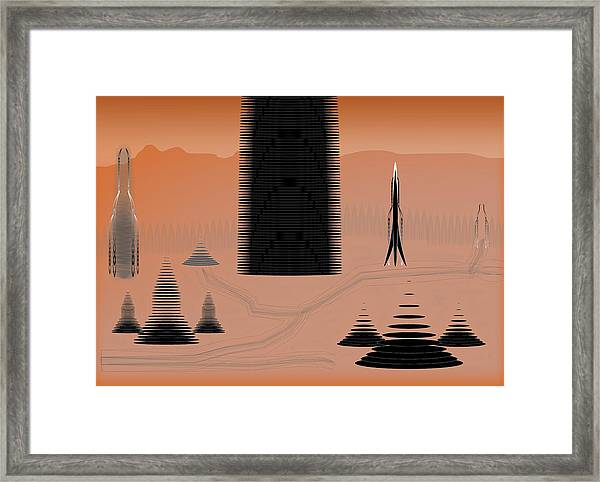 Cone City Framed Print