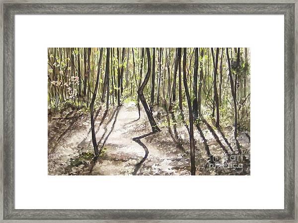 Conestee Walk Framed Print by Carla Dabney