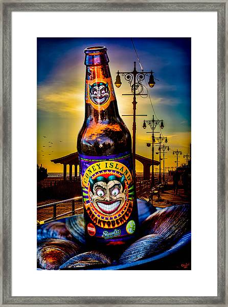 Coney Island Beer Framed Print