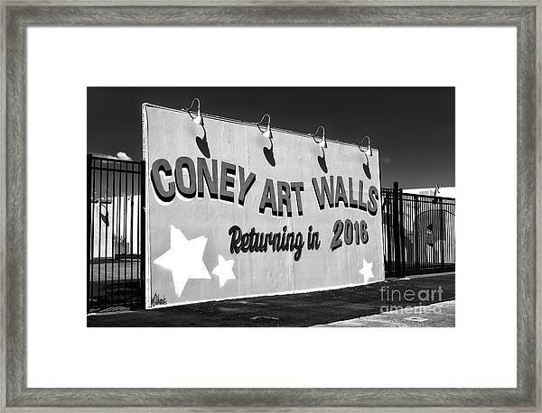 Coney Island Wall Art Returning In 2016 Framed Print by John Rizzuto