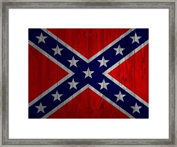 Confederate Flag Barn Door Framed Print