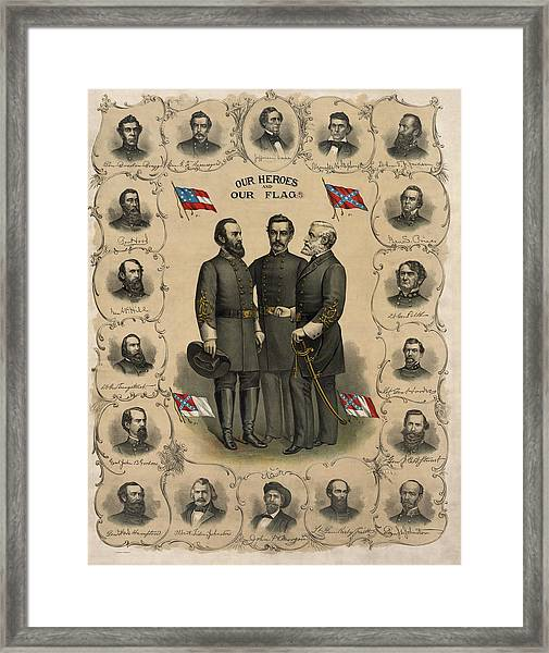 Confederate Generals Of The Civil War Framed Print