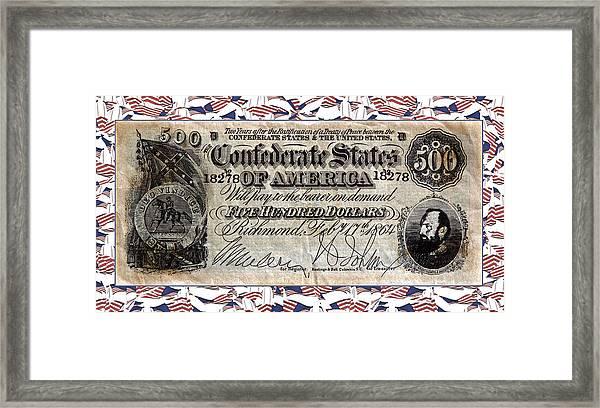 Confederate Money Framed Print