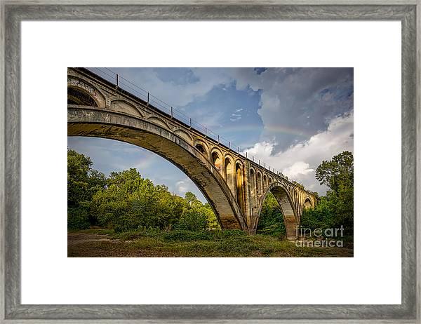 Confederate Rainbow At Bovina Framed Print