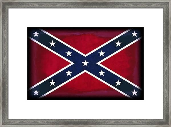 Confederate Rebel Battle Flag Framed Print