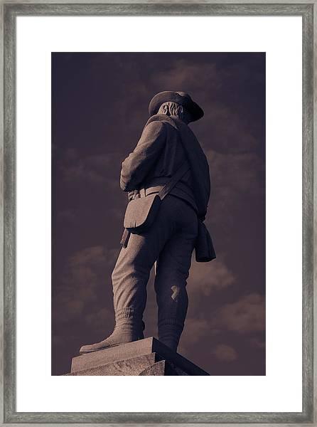 Confederate Statue Framed Print